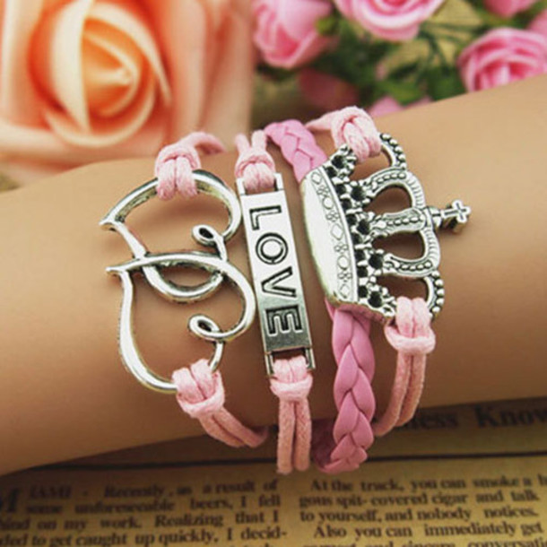 0b16xj-l-610x610-jewels-bracelet-cute-pink 2017 Trendy Designs Of Bracelets For Women And Girls