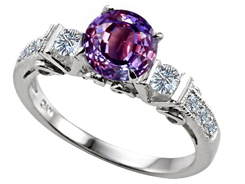 3-Stone-Alexandrite-Engagement-Ring 37+ Amazing Engagement Rings With Colored Gemstones