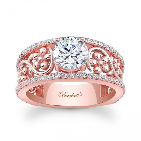 7894lp_front_1 30 Elegant Design Of Engagement Rings In Rose Gold