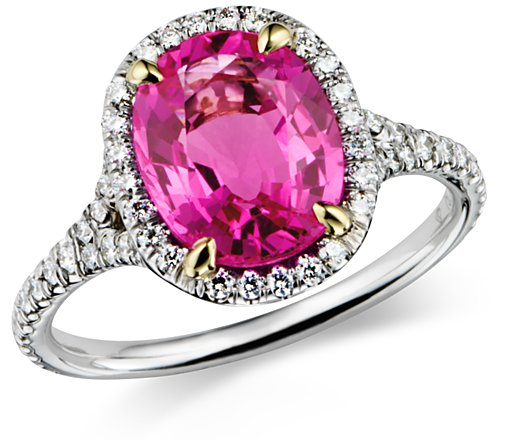 Blue-Nile-Engagement-Ring-Pink-II 37+ Amazing Engagement Rings With Colored Gemstones