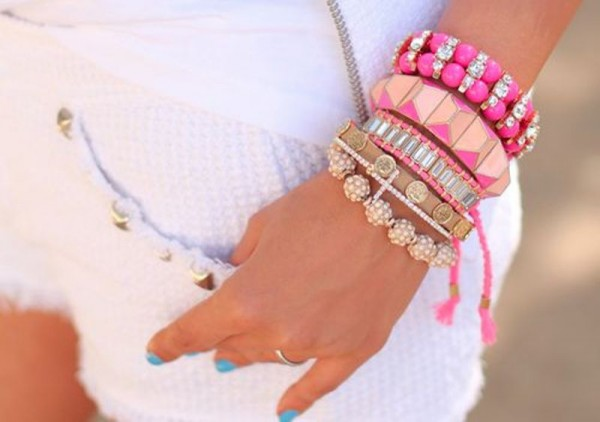 Cute-Pink-Bracelets1 2017 Trendy Designs Of Bracelets For Women And Girls