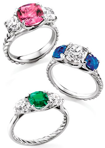 David-Yurman-Engagement-Rings 37+ Amazing Engagement Rings With Colored Gemstones
