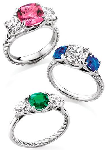 David-Yurman-Engagement-Rings 37+ Amazing Engagement Rings With Colored Gemstones