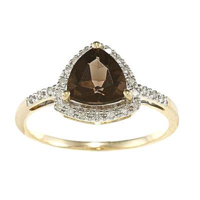 Designer-Diamonds-Gold-Trillion-Cut-Gemstone-and-Diamond-Ring 37+ Amazing Engagement Rings With Colored Gemstones