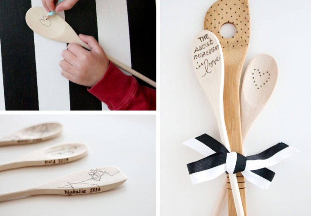 Etched-Wooden-Spoons 27 Most Stunning Mother's Day Gift Ideas