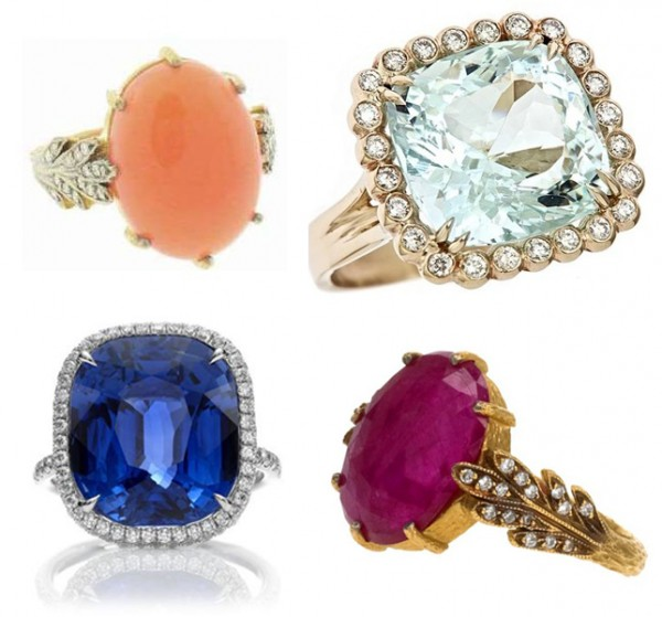 Gemstone-Engagement-Rings1 37+ Amazing Engagement Rings With Colored Gemstones