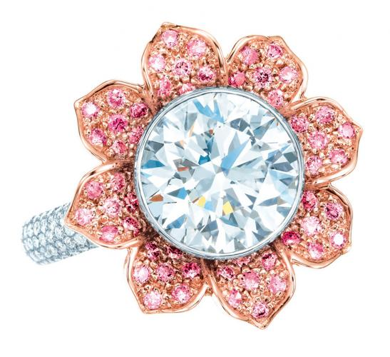 Tiffany-Pink-and-white-diamond-ring1 37+ Amazing Engagement Rings With Colored Gemstones