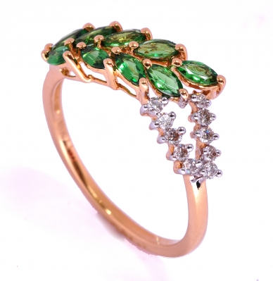Tsavorite-and-Diamond-Gemstone-Ring-by-Angel-Jewels 37+ Amazing Engagement Rings With Colored Gemstones