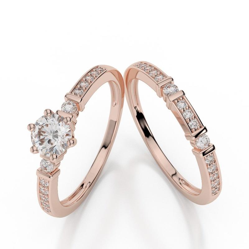 agrbs1019_1 30 Elegant Design Of Engagement Rings In Rose Gold