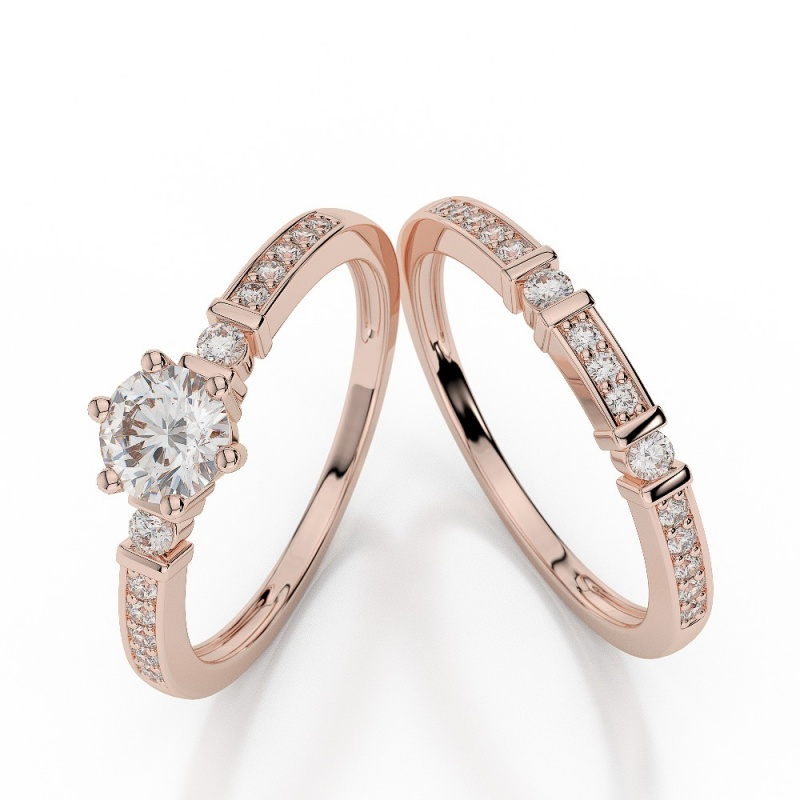agrbs1019_1 30 Elegant Design Of Engagement Rings In Rose Gold