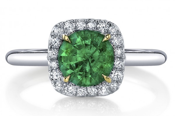 emerald-engagement-ring 37+ Amazing Engagement Rings With Colored Gemstones
