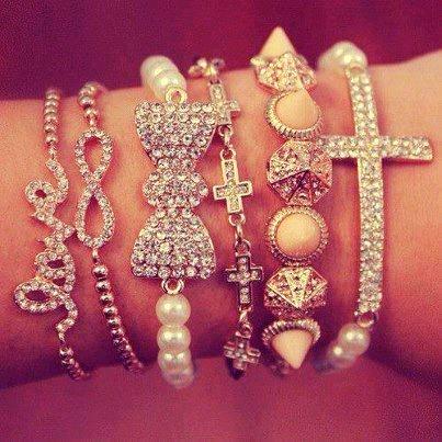 glitter-infinity-bracelet-diamond-for-fashion-girls-f35031 2017 Trendy Designs Of Bracelets For Women And Girls