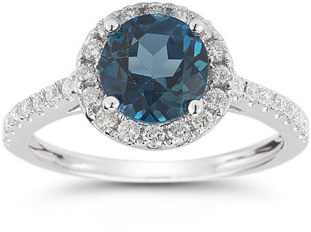 london-blue-topaz-and-diamond-halo-gemstone-ring-RXP-DR-21591LBTC 37+ Amazing Engagement Rings With Colored Gemstones