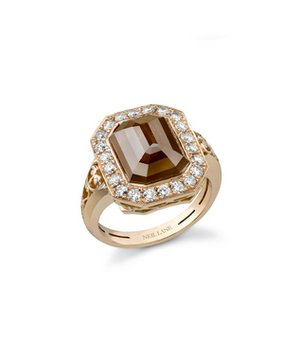 neil-lane-peach-colored-diamond-ring-profile 37+ Amazing Engagement Rings With Colored Gemstones