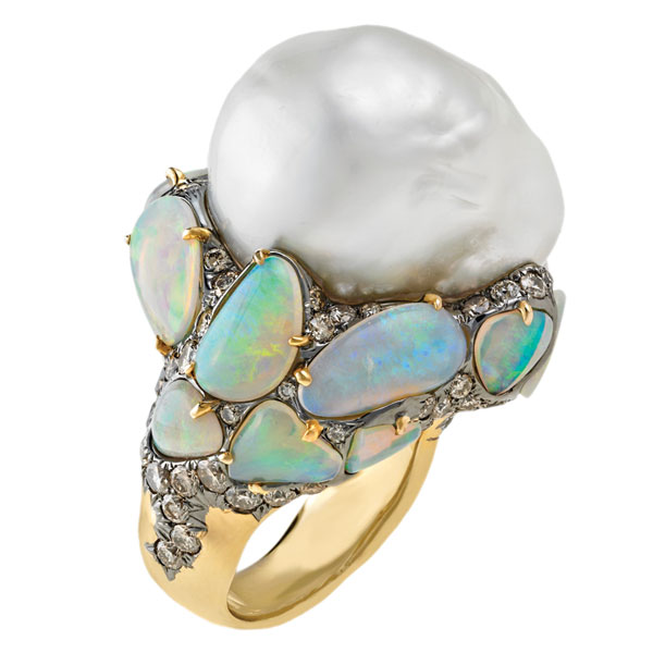 opal-ring 37+ Amazing Engagement Rings With Colored Gemstones