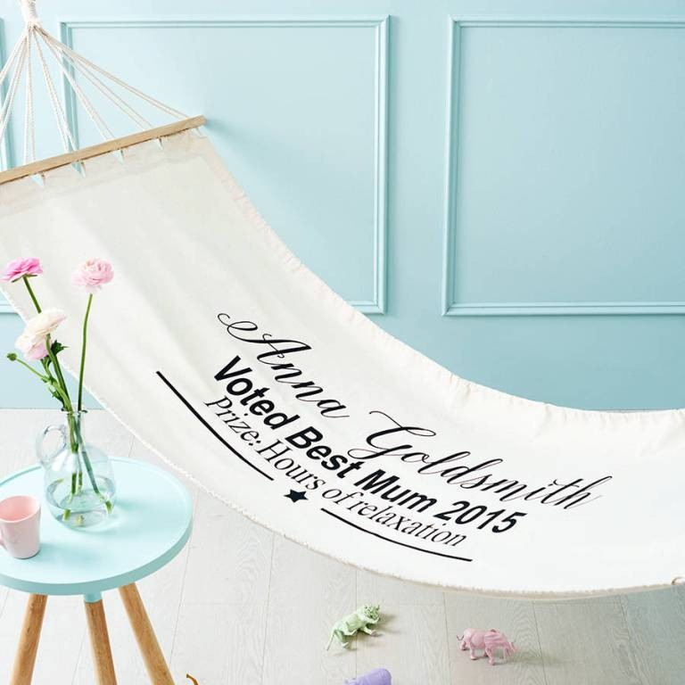personalized-mothers-day-hammock 27 Most Stunning Mother's Day Gift Ideas
