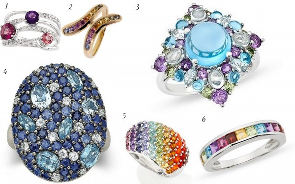 swann-soirees1 37+ Amazing Engagement Rings With Colored Gemstones