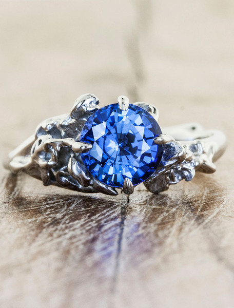 unique-engagement-rings-devi-blue-sapphires.jpeg_1_grande 37+ Amazing Engagement Rings With Colored Gemstones