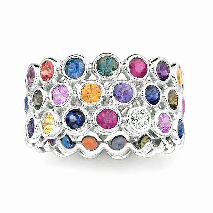 unique-wedding-bands-with-colored-gemstones-005 37+ Amazing Engagement Rings With Colored Gemstones