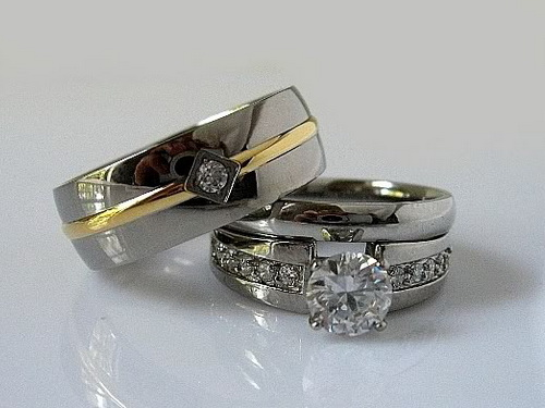 white-gold-wedding-engagement-rings-sets Top 22+ Unique And Elegant Designs Of Wedding Rings