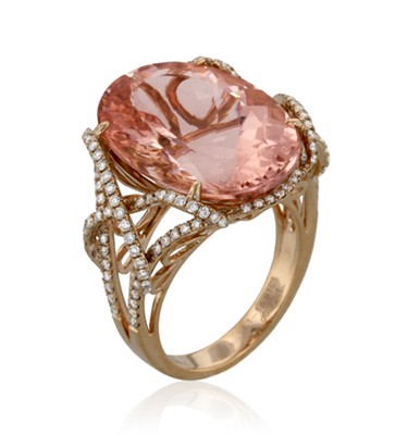 yael-designs-morganite-ring-lyra-collection 37+ Amazing Engagement Rings With Colored Gemstones