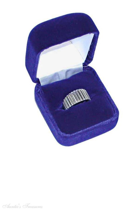 Deluxe-Blue-Velvet-1-inch-by-1-7-8-inch-by-1-3-8-inch-Ring-Bo-by-475x725 How To Preserve Silver Objects ( The Best Ways To Keep Your Silver In A Good Shape )