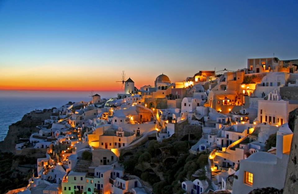 Santorini-after-sunset 4 Best Places To Watch Sunset Around The World