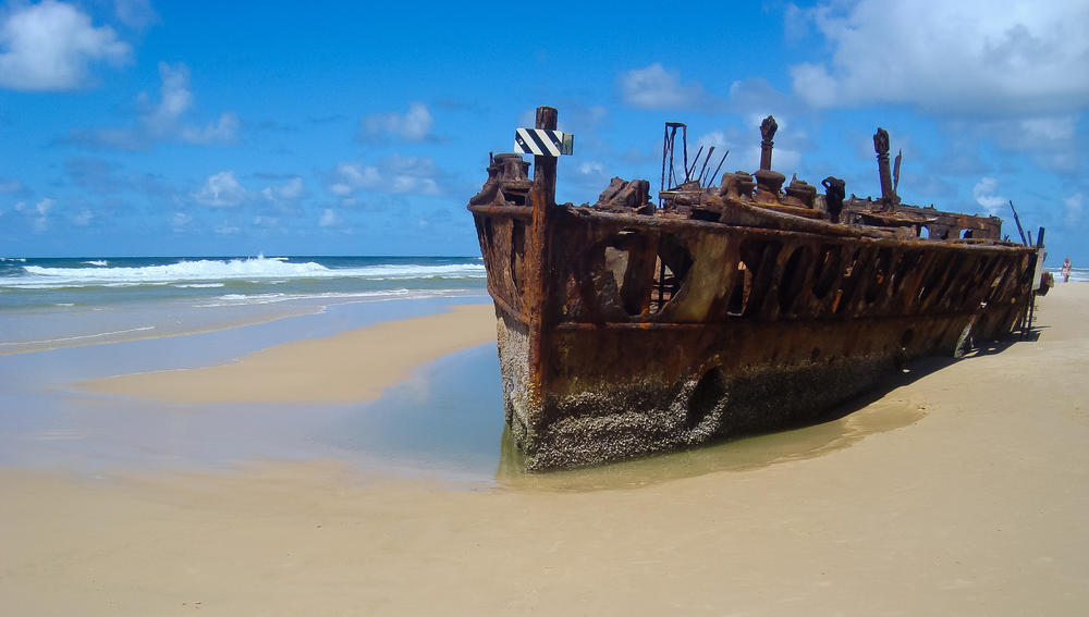Shipwreck-Fraser-Island 5 Most Beautiful Beaches in The World