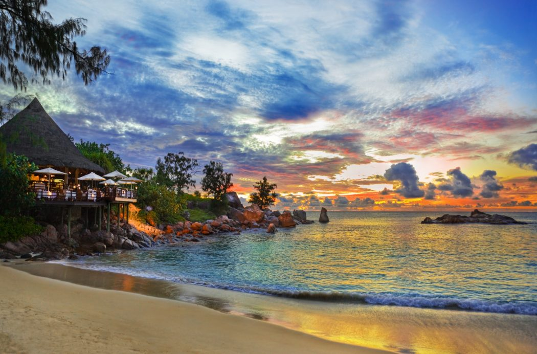 beach-restaurant-praslin-seychelles 5 Most Beautiful Beaches in The World