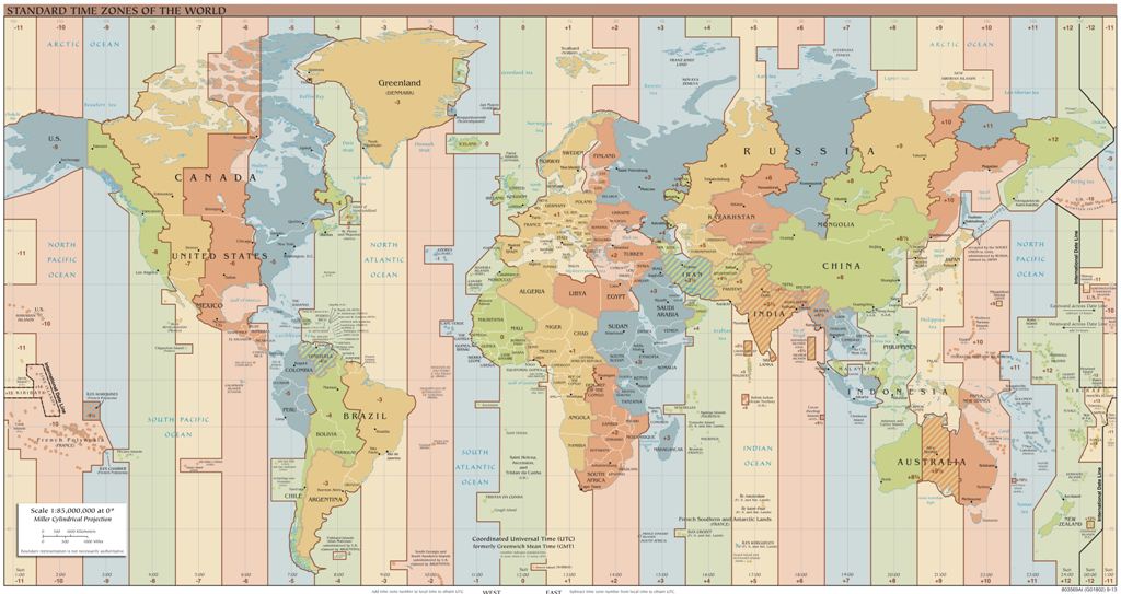 time-zones-3 Why Is the Earth Flat & Not Round?!!