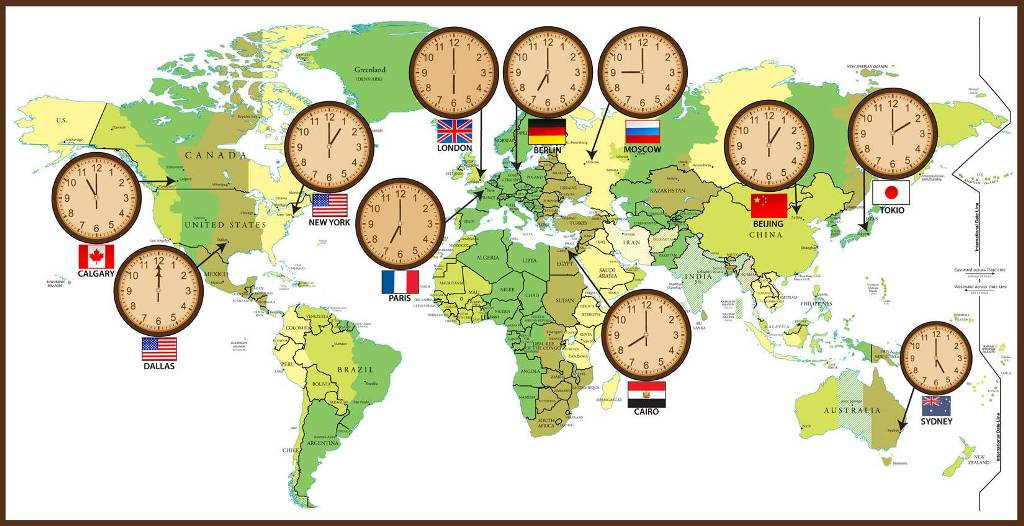 time-zones-4 Why Is the Earth Flat & Not Round?!!