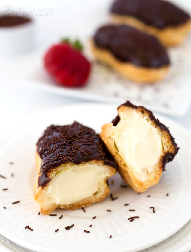 Chocolate-Eclairs-Inside-Barbara-Bakes 2 Creative Dessert Recipes That Will Impress Your Husband