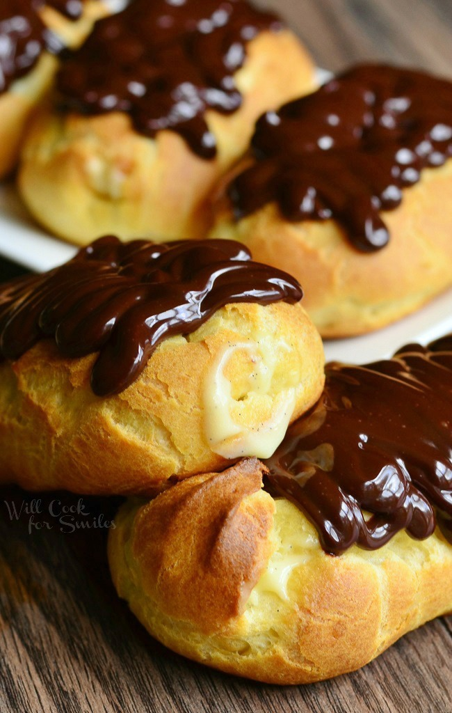 Homemade-Boston-Cream-Eclair-2-from-willcookforsmiles.com_ 2 Creative Dessert Recipes That Will Impress Your Husband