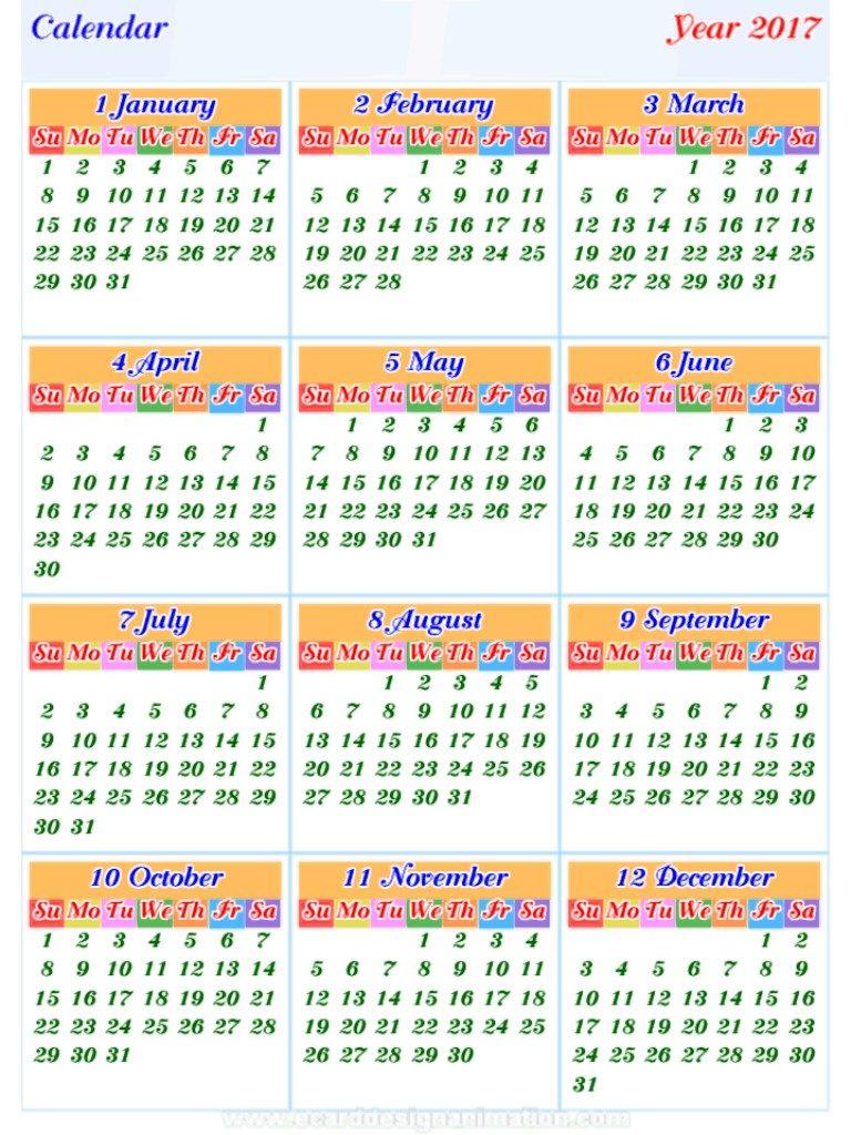 2017-calendar-17 58 Stunning Printable Calendar Templates