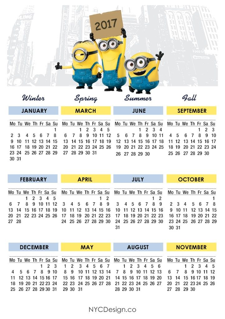 2017-calendar-18 58 Stunning Printable Calendar Templates
