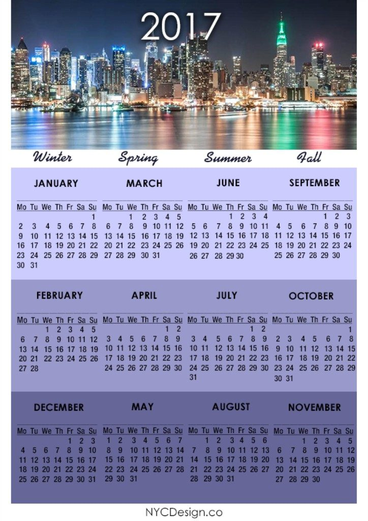 2017-calendar-19 58 Stunning Printable Calendar Templates