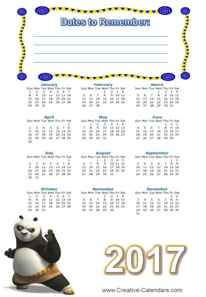 2017-calendar-2 58 Stunning Printable Calendar Templates