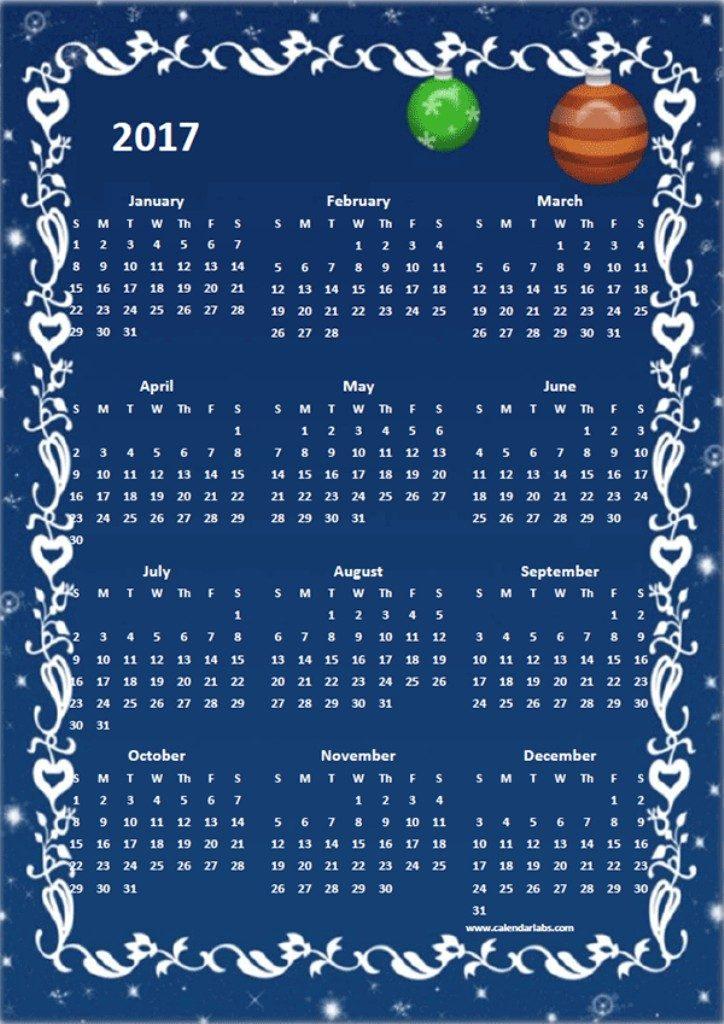 2017-calendar-20 58 Stunning 2017 Printable Calendar Templates
