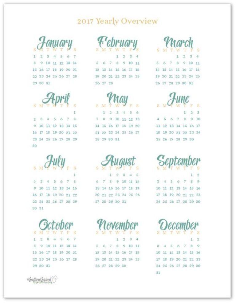 2017-calendar-21 58 Stunning Printable Calendar Templates