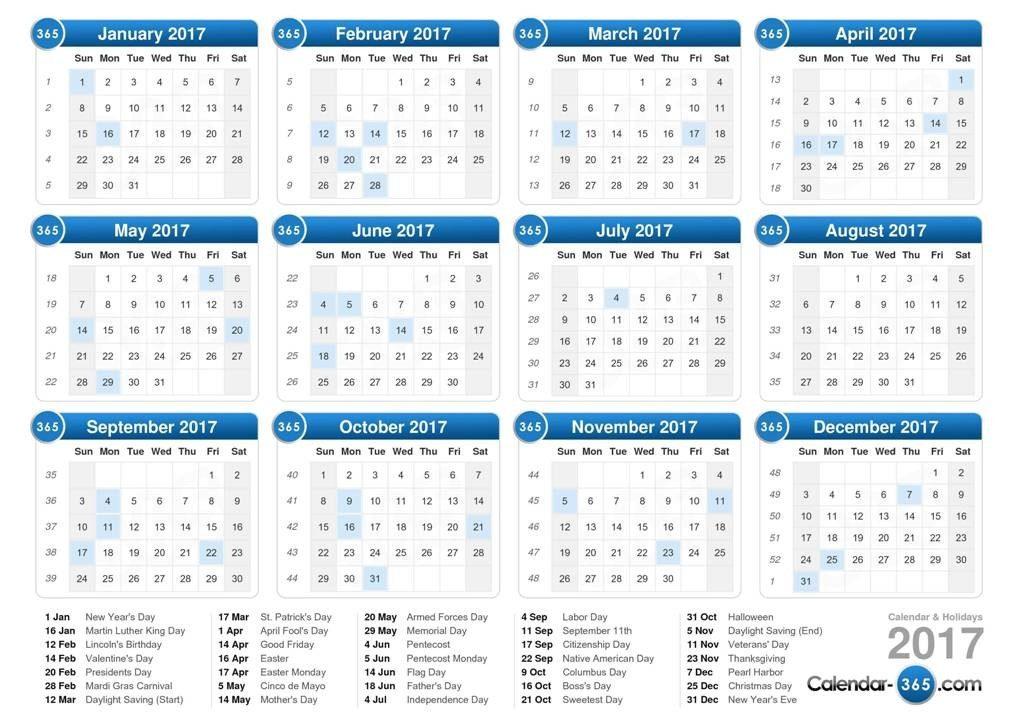2017-calendar-24 58 Stunning 2017 Printable Calendar Templates