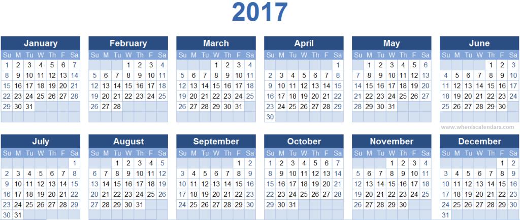 2017-calendar-27 58 Stunning 2017 Printable Calendar Templates