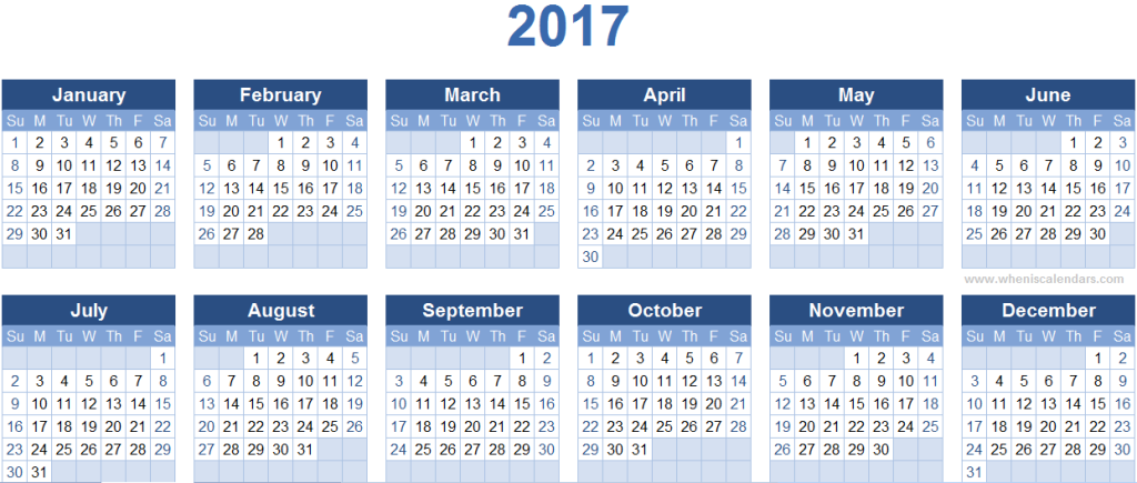 2017-calendar-27 58 Stunning Printable Calendar Templates