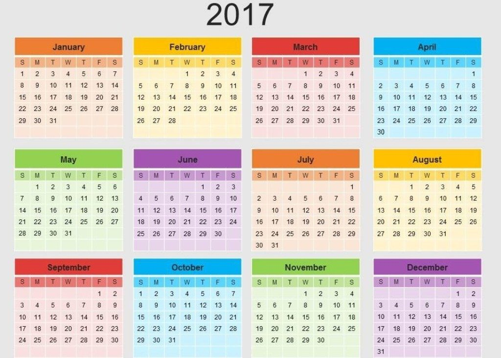2017-calendar-28 58 Stunning Printable Calendar Templates