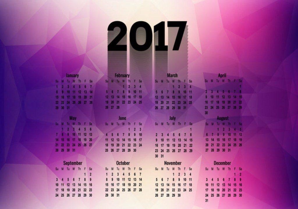 2017-calendar-29 58 Stunning Printable Calendar Templates
