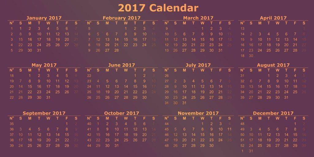 2017-calendar-32 58 Stunning 2017 Printable Calendar Templates