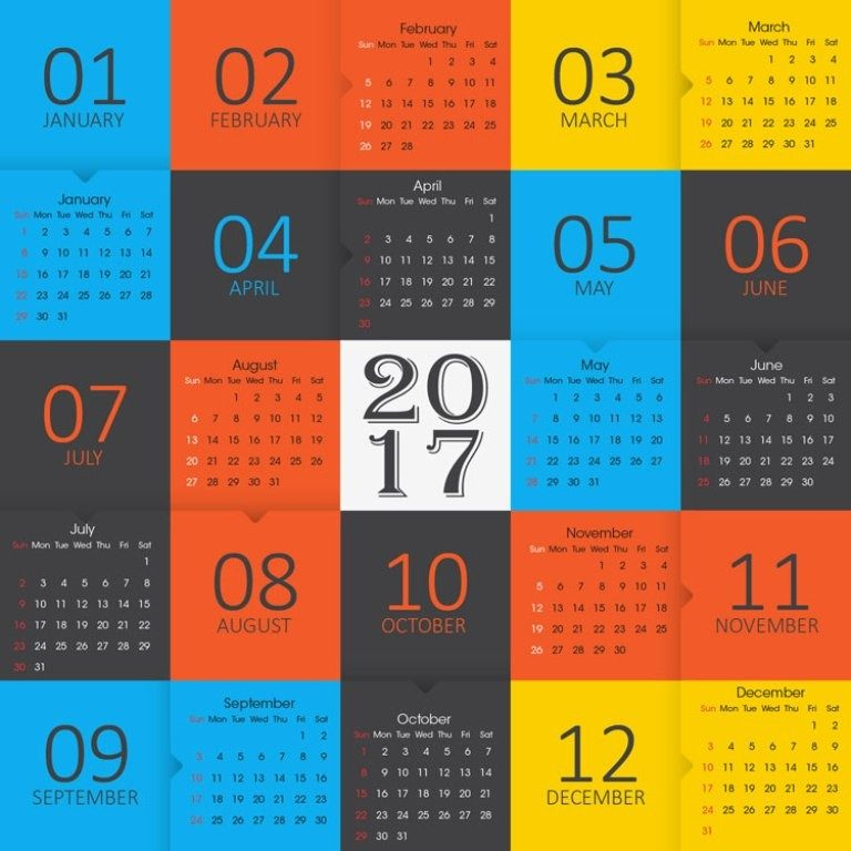 2017-calendar-34 58 Stunning Printable Calendar Templates
