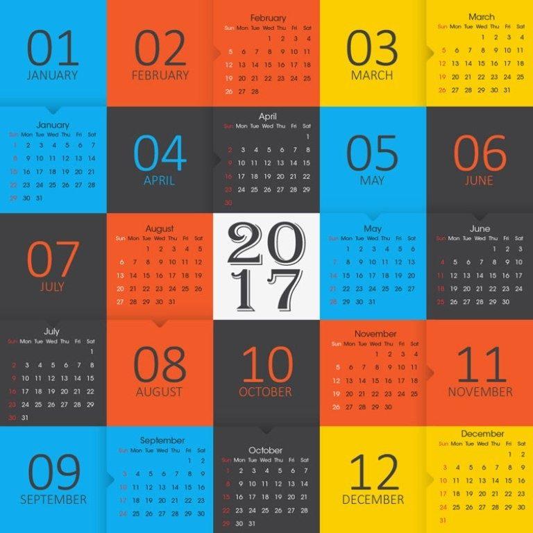 2017-calendar-34 58 Stunning 2017 Printable Calendar Templates