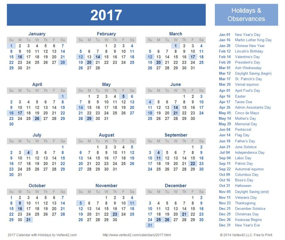 2017-calendar-35 58 Stunning 2017 Printable Calendar Templates