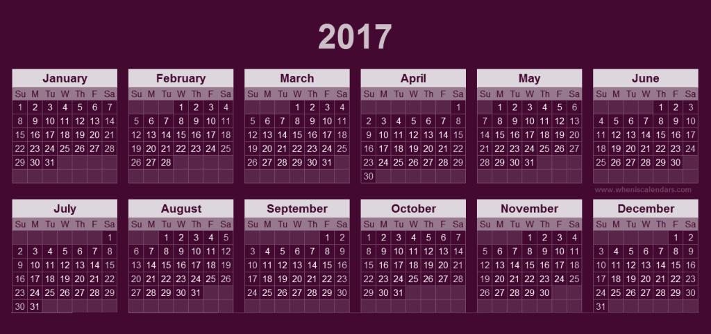 2017-calendar-37 58 Stunning Printable Calendar Templates