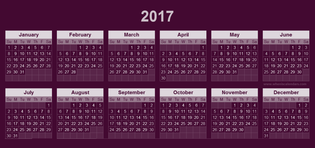 2017-calendar-37 58 Stunning 2017 Printable Calendar Templates